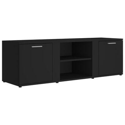 vidaXL TV-bänk svart 120x34x37 cm spånskiva, Black