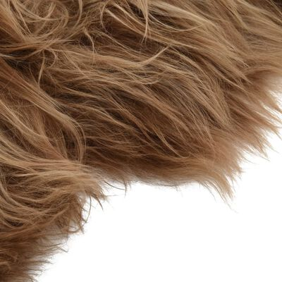 vidaXL Isländskt fårskinn brun 70x110 cm