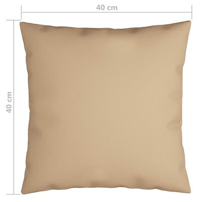 vidaXL Prydnadskuddar 4 st beige 40x40 cm tyg