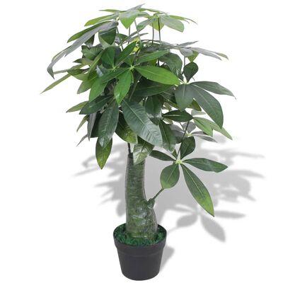 vidaXL Konstväxt Pengaträd (Pachira aquatica) med kruka 85 cm grön