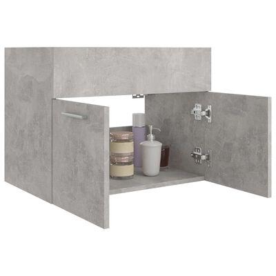 vidaXL Tvättställsskåp betonggrå 60x38,5x46 cm spånskiva