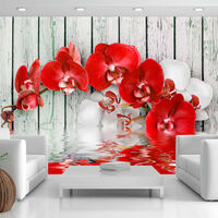 Fototapet - Ruby Orchid - 100x70 Cm