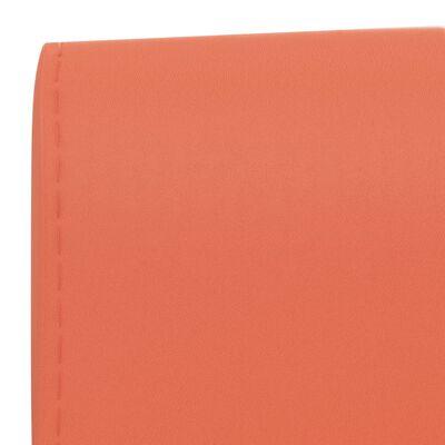 vidaXL Barstolar 2 st orange konstläder