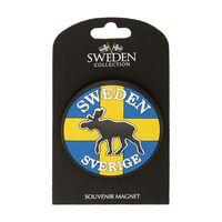 Magnet Souvenir Flagga Sverige Älg