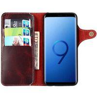 Mobilplånbok 3-kort äkta läder Samsung Galaxy S9 Plus (SM-G965F) Ox