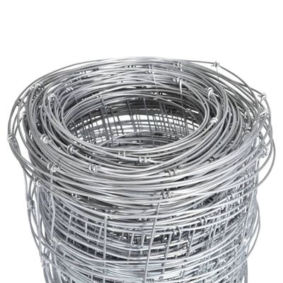 vidaXL Fårstängsel galvaniserat stål 50 m 150 cm silver