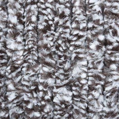 vidaXL Insektsdraperi brun och beige 90x220 cm chenille