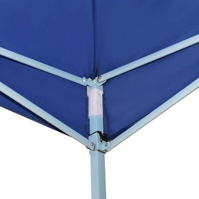 vidaXL Hopfällbart partytält med 4 sidoväggar 5x5 m blå