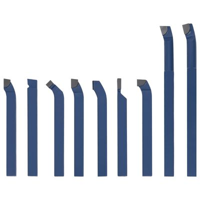 vidaXL Svarvstål 11 st karbid 8x8 mm P30
