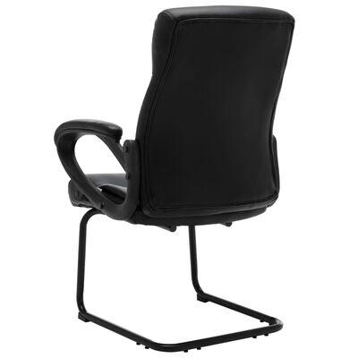 vidaXL Fribärande kontorsstol svart konstläder