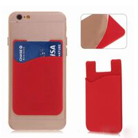 3x Silikon socka plånbokskortsdekaler röd
