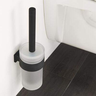 Tiger Toalettborste och hållare Bold matt svart