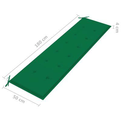 vidaXL Bänkdyna för trädgården 180x50x4 cm grön