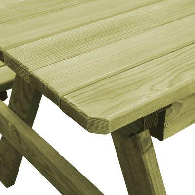 vidaXL Picknickbord med bänkar 90x90x58 cm impregnerad furu
