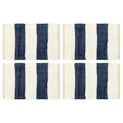 vidaXL Bordstabletter 4 st chindi randig blå och vit 30x45 cm