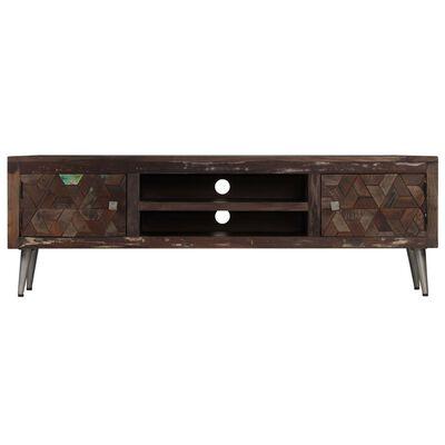 vidaXL TV-bänk massivt återvunnet trä 140x30x45 cm