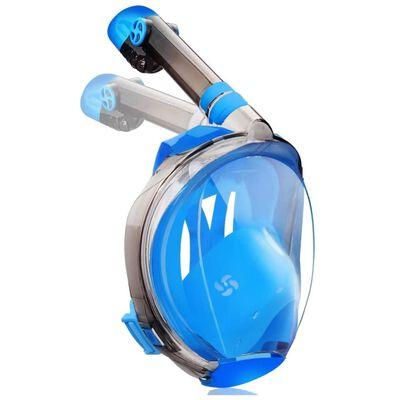 Helmask cyklop med snorkel och GoPro fäste - blå - S/M
