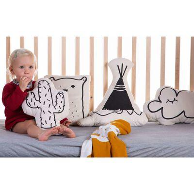 CHILDHOME Prydnadskudde i kanvas moln