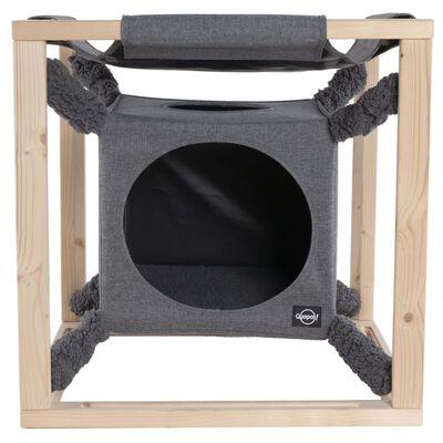 Quapas! Kattbädd med hängmatta Catcube grå M 54x54x54 cm