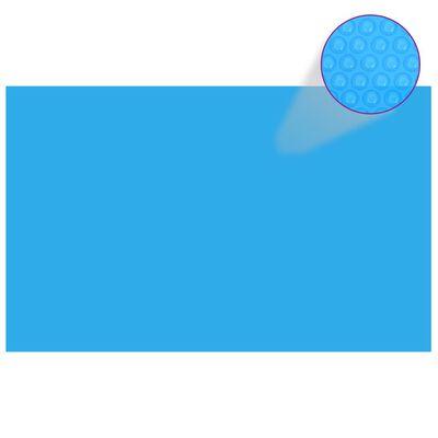 vidaXL Rektangulärt poolskydd 800x500 cm PE blå