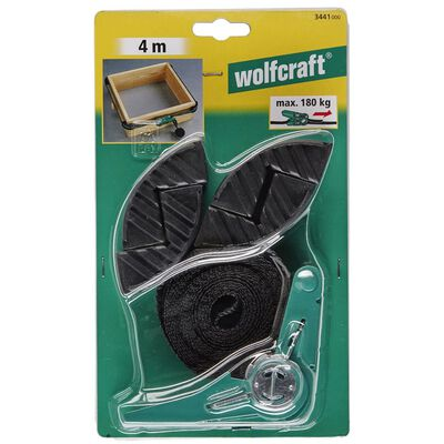 wolfcraft Spännband med spärrhake 4 käkar 4 m 3441000