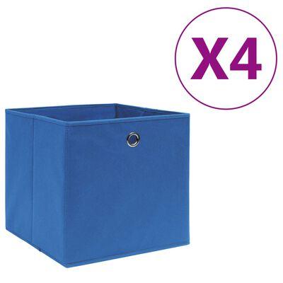 vidaXL Förvaringslådor 10 st non-woven tyg 28x28x28 cm blå, Blue