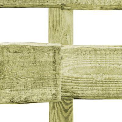 vidaXL Staket 2 ribbor 5 st impregnerad furu 510x90 cm