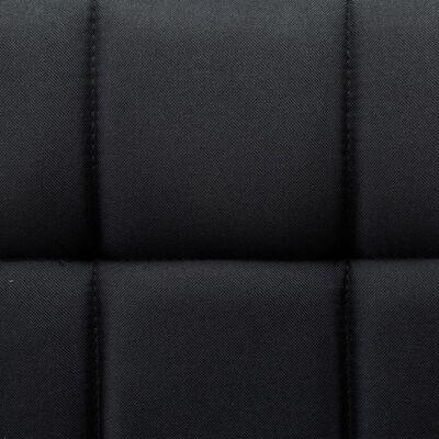 vidaXL Snurrbara matstolar 2 st svart tyg