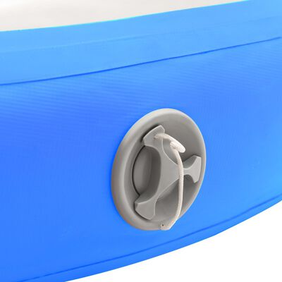 vidaXL Uppblåsbar gymnastikmatta med pump 100x100x10 cm PVC blå