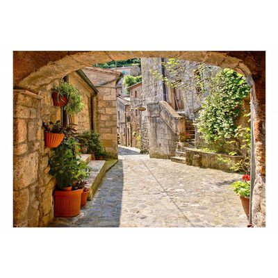 Fototapet - Provincial Alley In Tuscany - 350x245 Cm