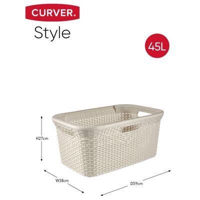 Curver Style Tvättkorg och mangelkorg vit 105 L 240657