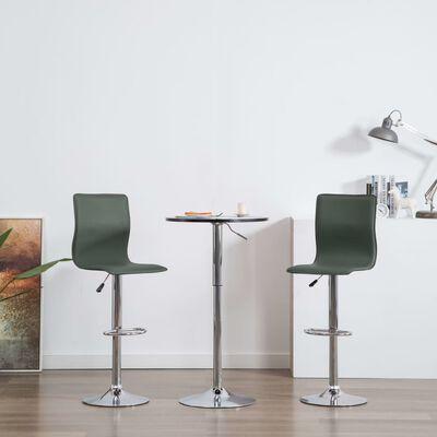 vidaXL Barstolar 2 st grå konstläder