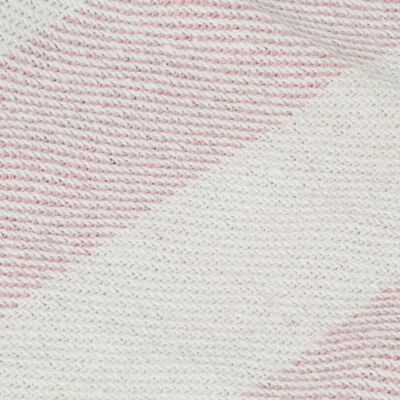 vidaXL Filt bomull randig 220x250 cm gammelrosa