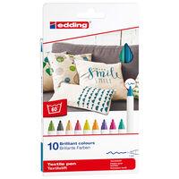 edding Textilpenna 10 st flerfärgad 4600