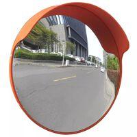 vidaXL Konvex trafikspegel PC-Plast 45 cm utomhusbruk orange