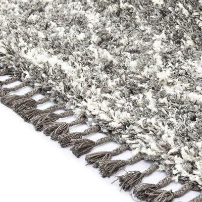 vidaXL Berbermatta långhårig PP grå och beige 120x170 cm