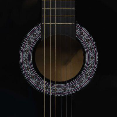 """vidaXL Gitarr för nybörjare och barn klassisk svart 3/4 36"""""""