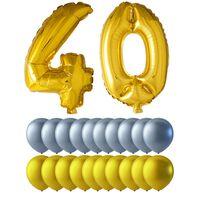 Ballonger födelsedag mix 40 år guld/silver
