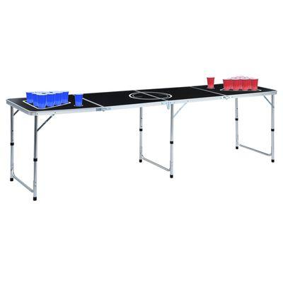 vidaXL Hopfällbart ölpingisbord med koppar och bollar 240 cm