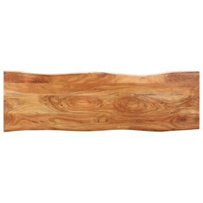 vidaXL Bänk med levande kant 110 cm massivt akaciaträ och stål