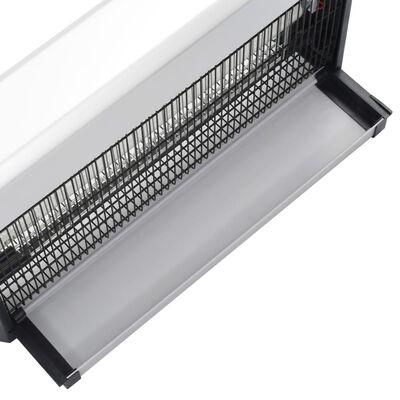 vidaXL Insektsdödare svart aluminium ABS 40 W
