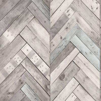 DUTCH WALLCOVERINGS Tapet trä/fiskben grå 7361-1