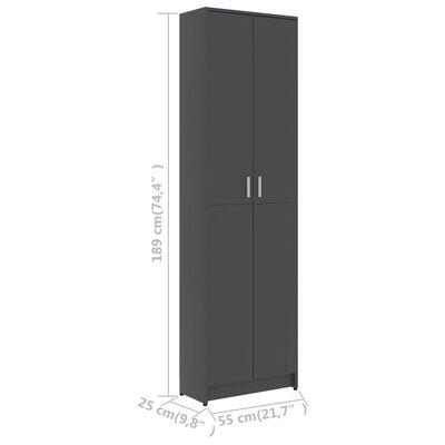 vidaXL Hallgarderob grå 55x25x189 cm spånskiva
