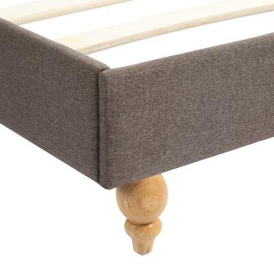vidaXL Säng med LED och madrass taupe tyg 180x200 cm, Taupe