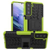 Stöttåligt Skal Med Ställ Samsung Galaxy S21-grön
