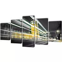 Uppsättning väggbonader på duk: London Big Ben 200 x 100 cm