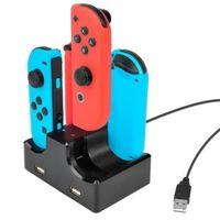 Laddningsstation För 4x Nintendo Switch Joy-con Handkontroller