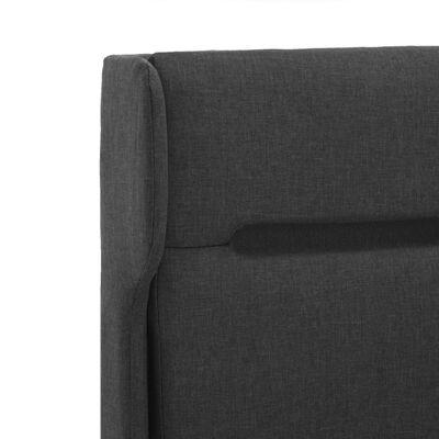 vidaXL Sängram med LED mörkgrå tyg 120x200 cm