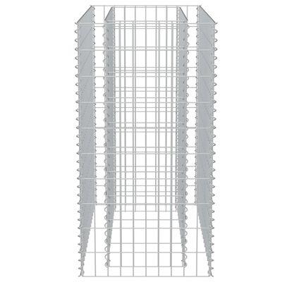 vidaXL Planteringsgabion upphöjd galvaniserat stål 90x50x100 cm
