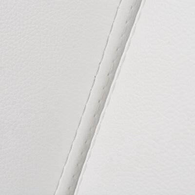 vidaXL Bäddsoffa med armstöd PVC vit justerbar